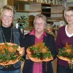 v.li.: Rita Stein, Karin Dirks und Ulrike Budde wurden für ihre sportlichen Schießleistungen geehrt.