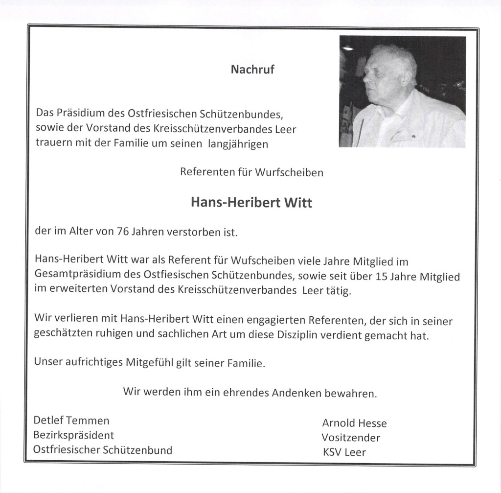 Hans Heribert Witt 1